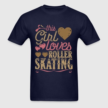 This Girl Loves Roller Skating - Men's T-Shirt