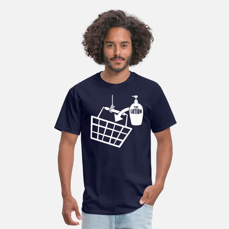 Bill T-Shirts - It puts the Lotion in the Basket - Buffalo Bill - Men's T-Shirt navy