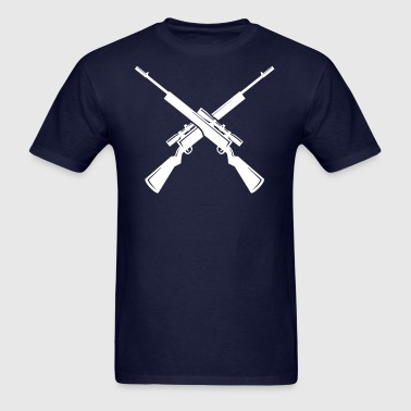 Only Crossed Rifles - Men's T-Shirt
