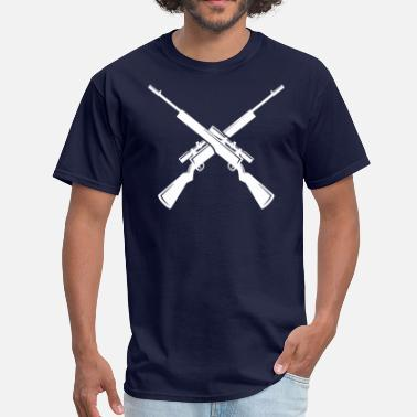 Crossed Rifles Only Crossed Rifles - Men's T-Shirt