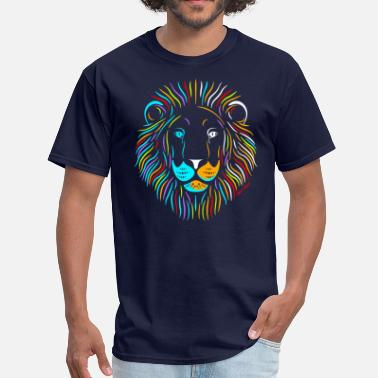 Colorful Lion - Men's T-Shirt