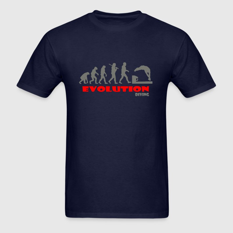 Diving ape of Evolution Swimming - Men's T-Shirt