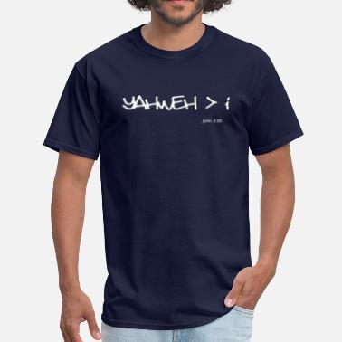 Messianic yahweh greater than i - Men's T-Shirt
