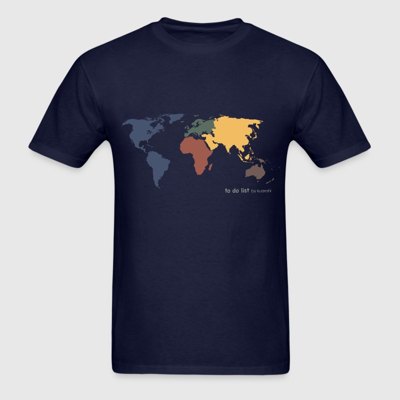 DONE: visit every continent - Men's T-Shirt