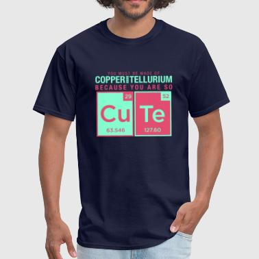Copper Element copper tellurium cute chemistry joke element - Men's T-Shirt