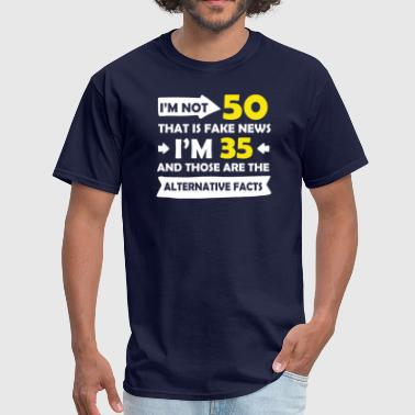 50th Design Funny Funny 50th Birthday Designs - Men's T-Shirt