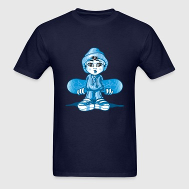 Snow boy and board - Men's T-Shirt