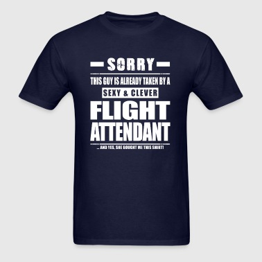 Guy Taken - Flight Attendant Shirt Gift - Men's T-Shirt
