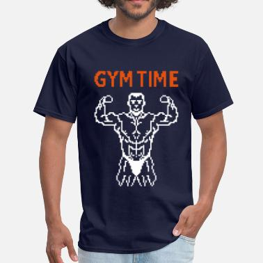 80s Beach Art gym time pixelart - Men's T-Shirt