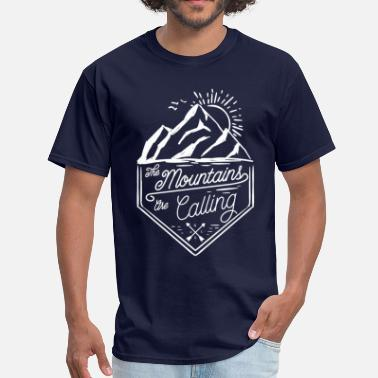 Mountaineering The Mountains Are Calling - Men's T-Shirt
