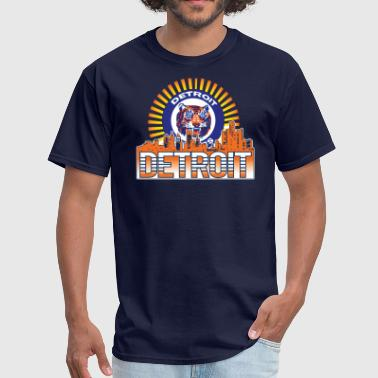 Tigers Sunburst American App - Men's T-Shirt