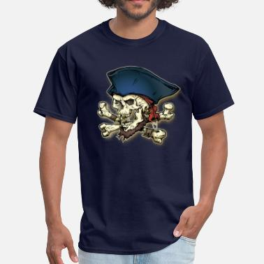 Skull And Bones Pirate Skull Cross & Bone - Men's T-Shirt
