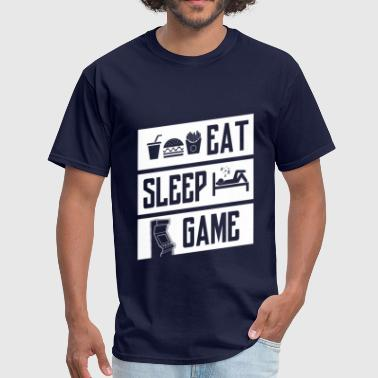 eat sleep game - white - Men's T-Shirt