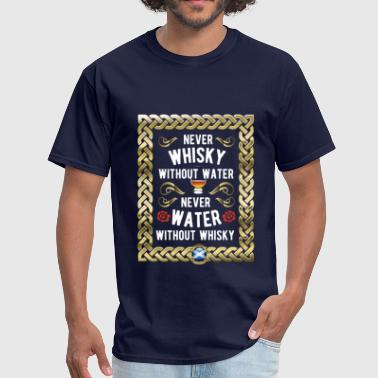 Whisky Shirt Whisky and Water - Men's T-Shirt
