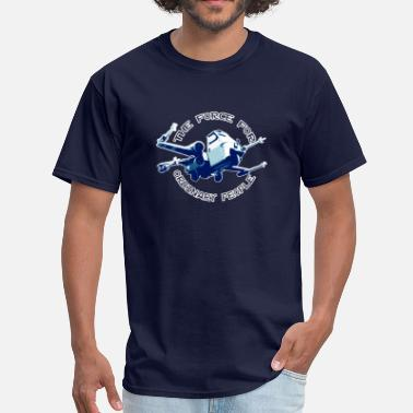 Spazio X-wing fighter ordinary people blue - Men's T-Shirt