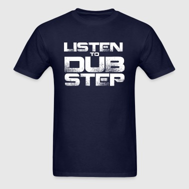 GIRLS Listen To Dubstep Hoodie white - Men's T-Shirt