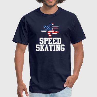 Cool Sports | USA Speed Skating Athlete American - Men's T-Shirt