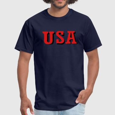USA  txt  - Men's T-Shirt