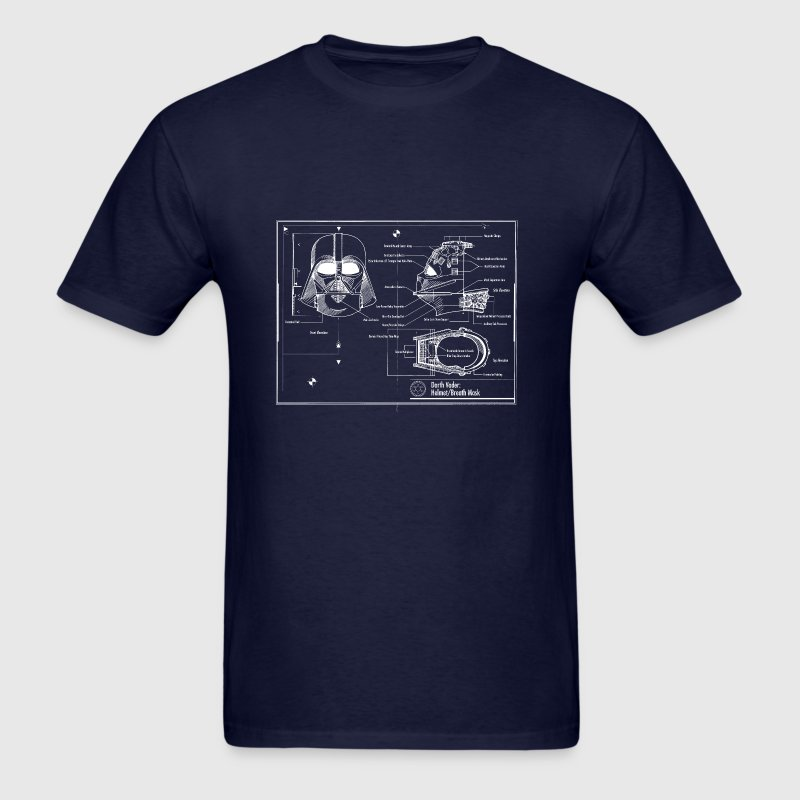 darth vader star wars blueprint - Men's T-Shirt
