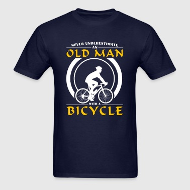 Cycling - Never Underestimate An Old Man With A Bi - Men's T-Shirt