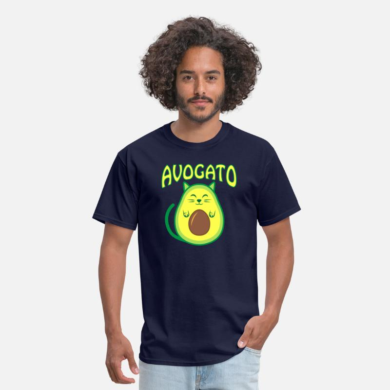 Meow T-Shirts - Cute Avogato - Men's T-Shirt navy