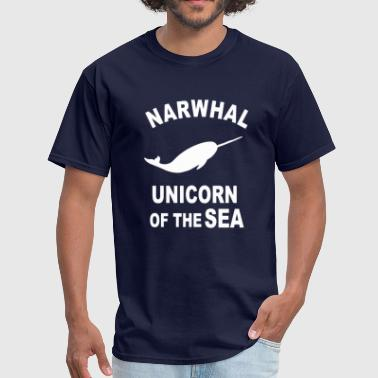 Cartoon Whale Narwhals T Shirt - Men's T-Shirt