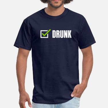 Checked Jokes Drunk, check - Men's T-Shirt