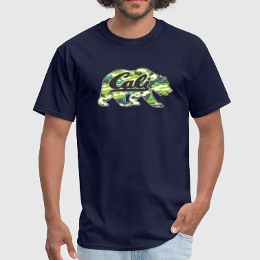 CALI bear Camoflage - Men's T-Shirt