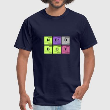 Nerd Element NERD BOY! Periodic Elements Scramble  - Men's T-Shirt