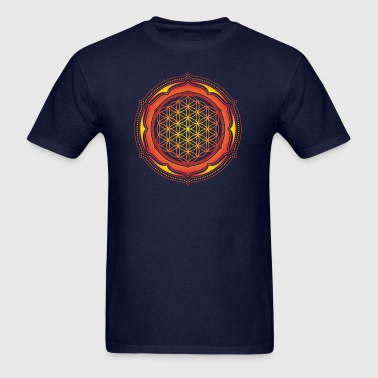 Flower of Life, Energy Symbol, Sacred Geometry - Men's T-Shirt