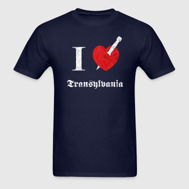 I love Transylvania (white, dd print) - Men's T-Shirt