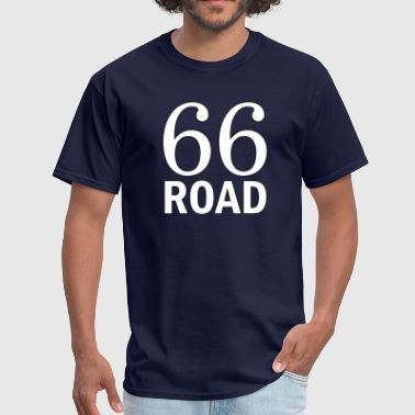 66 Road 	White - Men's T-Shirt