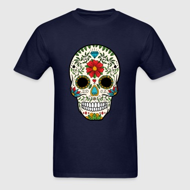 Sugar Skull - Day of the Dead #8 - Men's T-Shirt