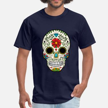 Mexican Sugar Skull Sugar Skull - Day of the Dead #8 - Men's T-Shirt