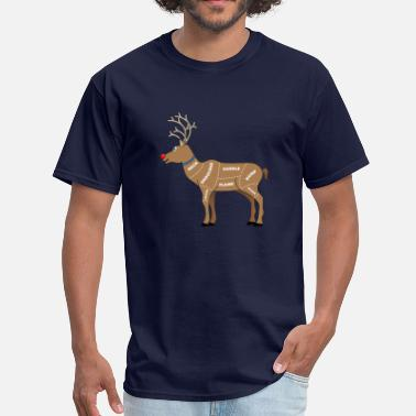 Funny Christmas Reindeer Meat For Christmas - Men's T-Shirt