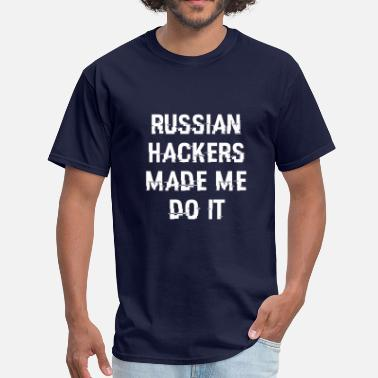 Russian Geek Russian Hackers - Men's T-Shirt