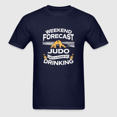 Weekend Forecast Judo With Drinking - Men's T-Shirt