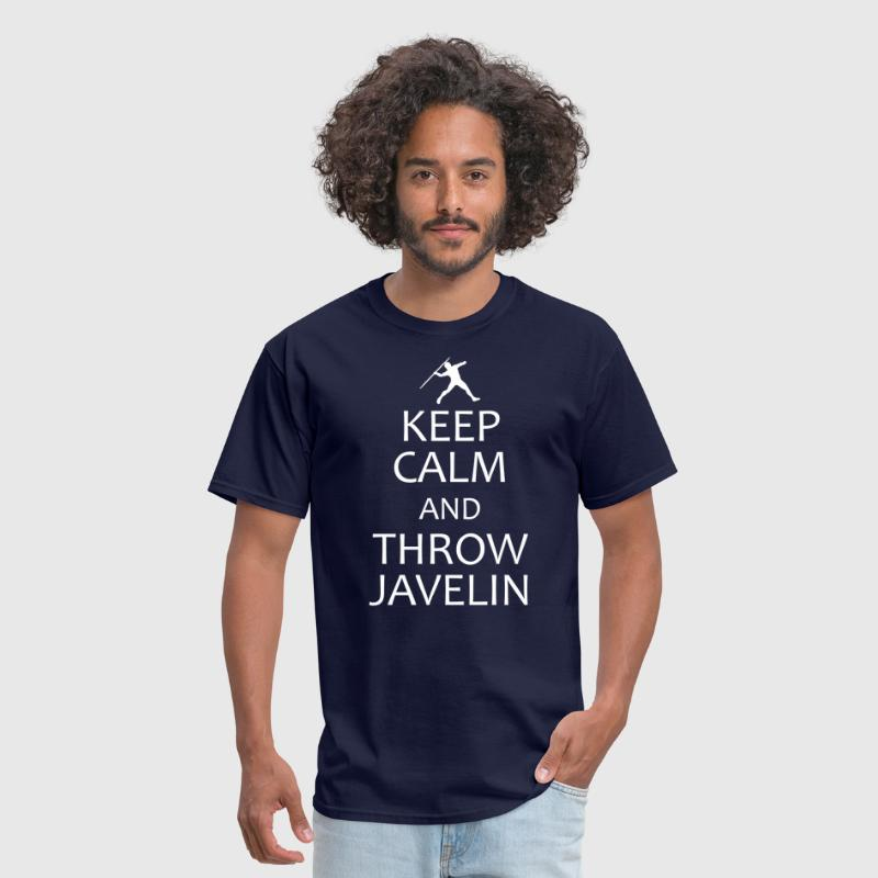 keep calm throw javelin - Men's T-Shirt