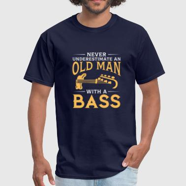 funny An Old Man With A Bass Guitar - Men's T-Shirt