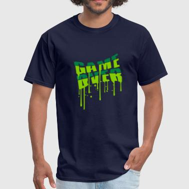 drop graffiti game over puke vomit nausea vomit sp - Men's T-Shirt