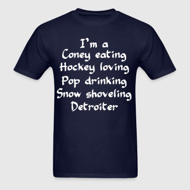 Coney Eating Hockey Loving - Men's T-Shirt