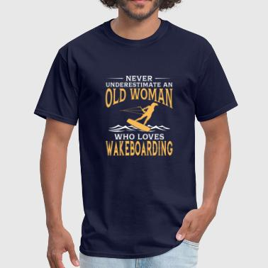 Wakeboard funny An Old Woman Who Loves Wakeboarding - Men's T-Shirt