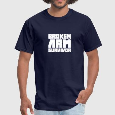 Survivor - Funny Broken Arm Get Well Soon Gift - Men's T-Shirt