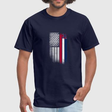 Mississippi State Flag USA Vintage Mississippi State Flag - Men's T-Shirt