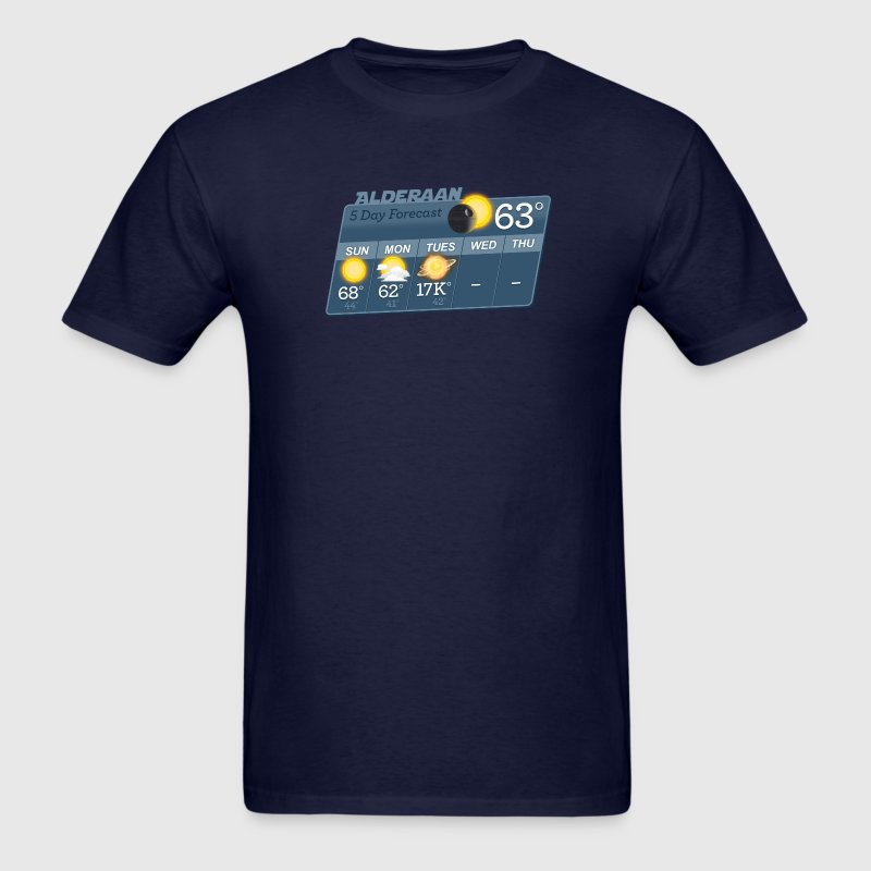 STAR WARS ALDERAAN 5 DAY WEATHER FORECAST - Men's T-Shirt