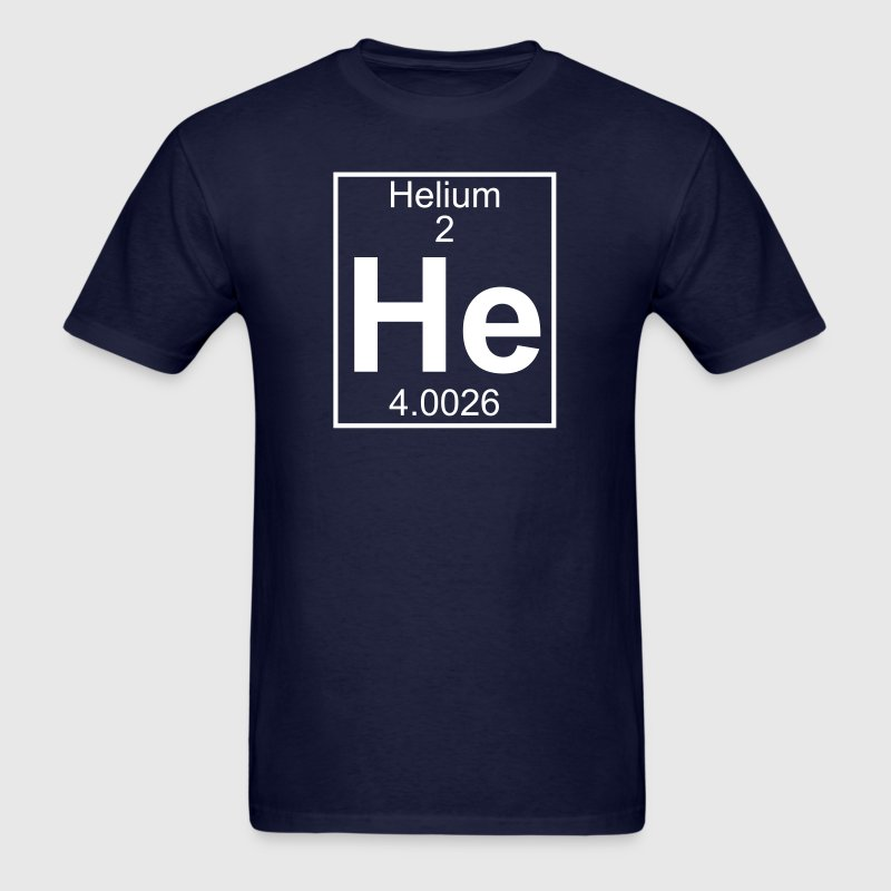 Element 2 - He (helium) - Full - Men's T-Shirt