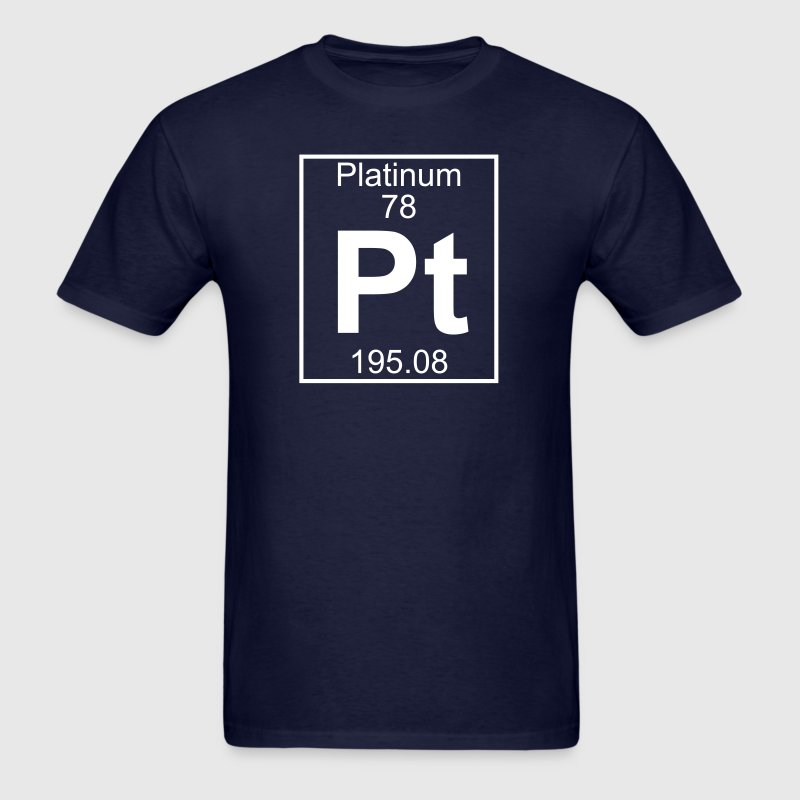 Element 78 - Pt (platinum) - Full - Men's T-Shirt