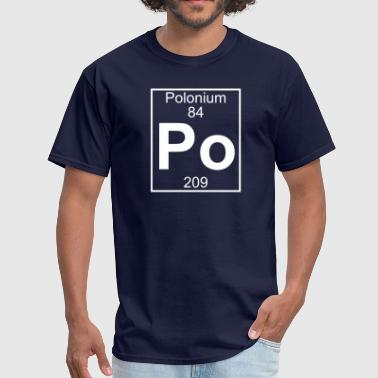 Po Periodic Table Element 84 - Po (polonium) - Full - Men's T-Shirt
