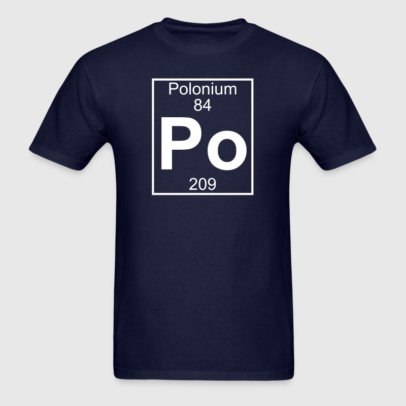 Element 84 - Po (polonium) - Full - Men's T-Shirt