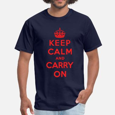 David Beckham Keep Calm and Carry On (red) - Men's T-Shirt